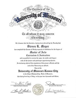 University of Missouri-Kansas City, 2015, Master of Arts degree in TESOL - American English Tutoring Center