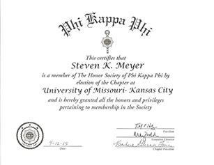 Phi Kappa Phi Honor Society at UMKC 2015 - American English Tutoring Center