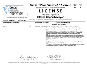 Teaching license State of Kansas - American English Tutoring Center